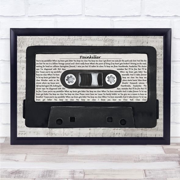 Ruel Painkiller Music Script Cassette Tape Song Lyric Print