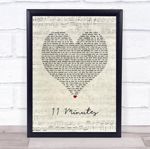 Yungblud & Halsey 11 Minutes Script Heart Song Lyric Print