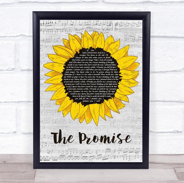 Sturgill Simpson The Promise Grey Script Sunflower Song Lyric Print