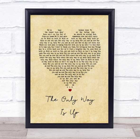 Yazz The Only Way Is Up Vintage Heart Song Lyric Print