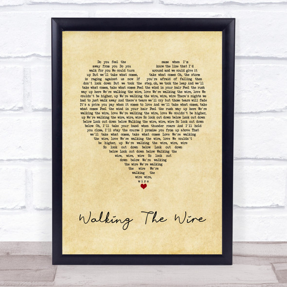 Imagine Dragons Walking The Wire Vintage Heart Song Lyric Print