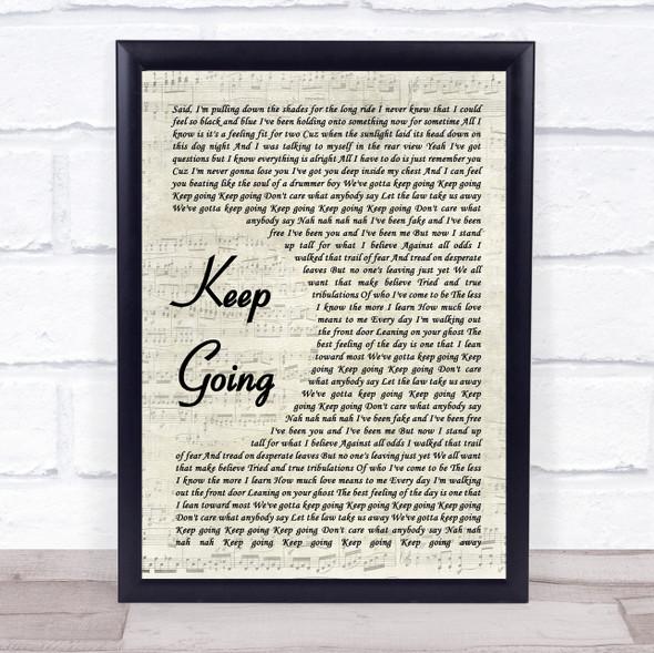 The Revivalists Keep Going Vintage Script Song Lyric Print