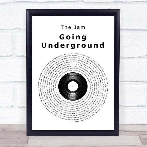 The Jam Going Underground Vinyl Record Song Lyric Print