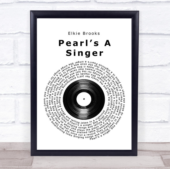Elkie Brooks Pearl's A Singer Vinyl Record Song Lyric Print