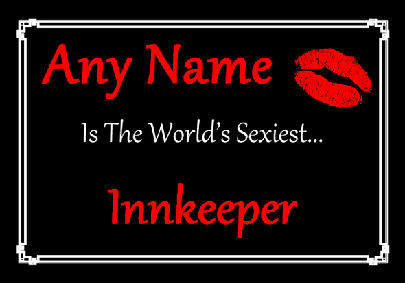 Innkeeper Personalised World's Sexiest Placemat
