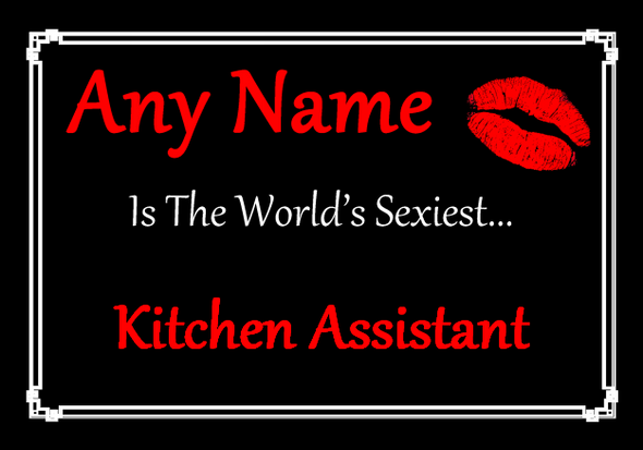 Kitchen Assistant Personalised World's Sexiest Placemat