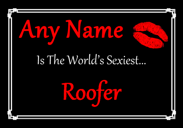 Roofer Personalised World's Sexiest Placemat