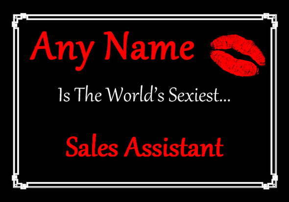 Sales Assistant Personalised World's Sexiest Placemat