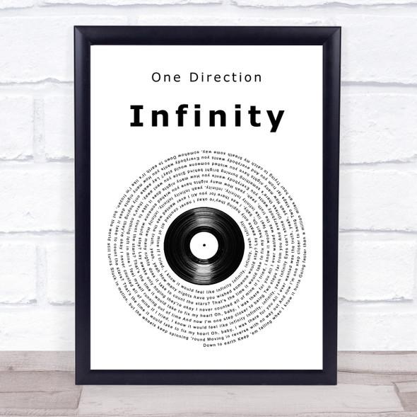 One Direction Infinity Vinyl Record Song Lyric Print