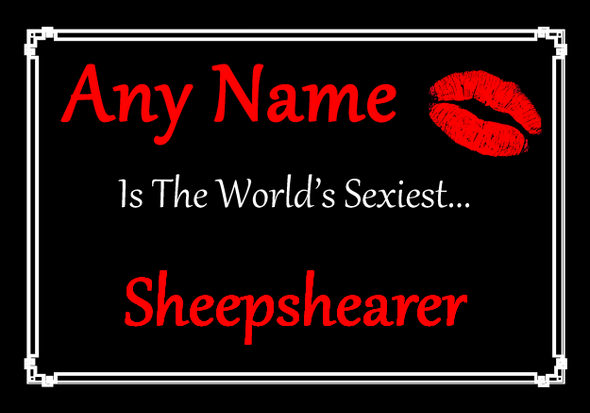 Sheepshearer Personalised World's Sexiest Placemat