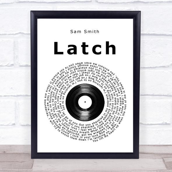 Sam Smith Latch Vinyl Record Song Lyric Print