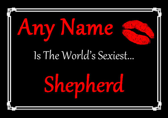 Shepherd Personalised World's Sexiest Placemat