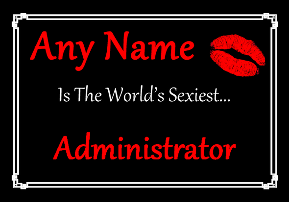 Administrator Personalised World's Sexiest Placemat