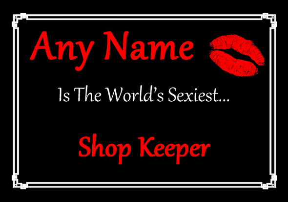Shop Keeper Personalised World's Sexiest Placemat
