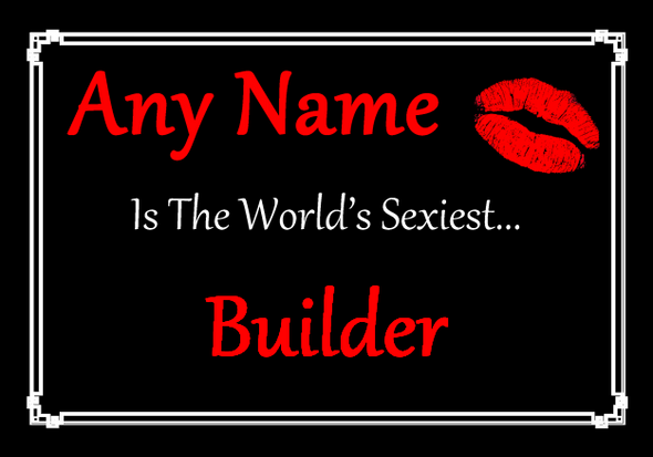 Builder Personalised World's Sexiest Placemat
