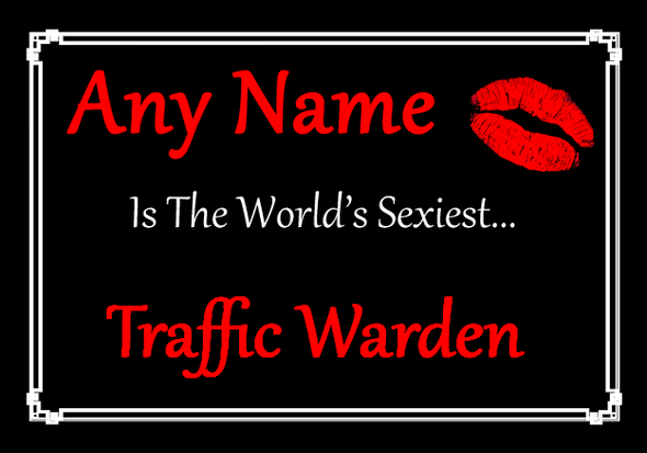 Traffic Warden Personalised World's Sexiest Placemat