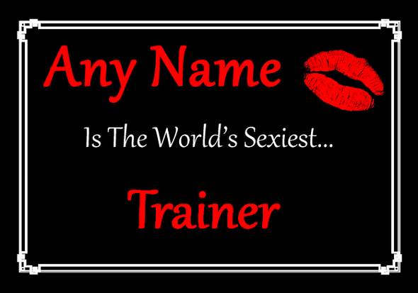 Trainer Personalised World's Sexiest Placemat