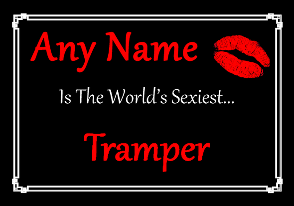 Tramper Personalised World's Sexiest Placemat