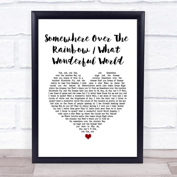 Israel Kamakawiwo'ole Somewhere over the rainbow & what a wonderful world medley White Heart Song Lyric Print