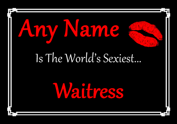 Waitress Personalised World's Sexiest Placemat