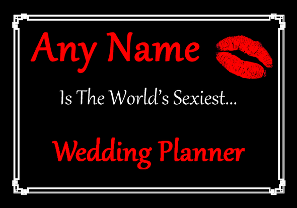 Wedding Planner Personalised World's Sexiest Placemat