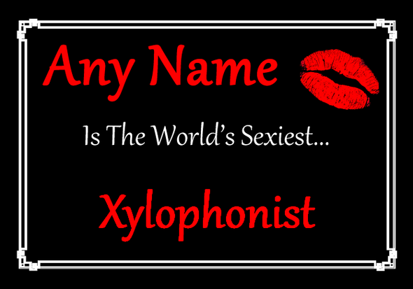 Xylophonist Personalised World's Sexiest Placemat