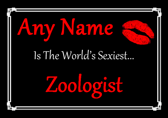 Zoologist Personalised World's Sexiest Placemat