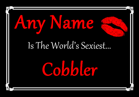Cobbler Personalised World's Sexiest Placemat