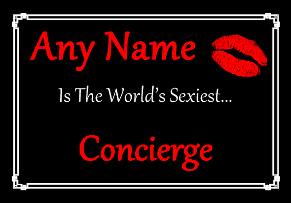 Concierge Personalised World's Sexiest Placemat