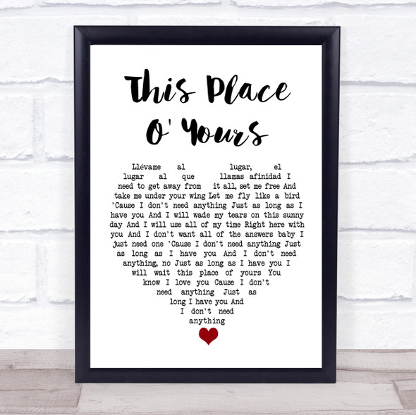 The Lathums This Place O' Yours White Heart Song Lyric Print
