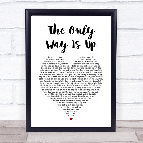 Yazz The Only Way Is Up White Heart Song Lyric Print
