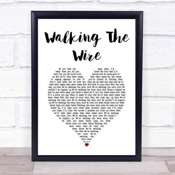 Imagine Dragons Walking The Wire White Heart Song Lyric Print