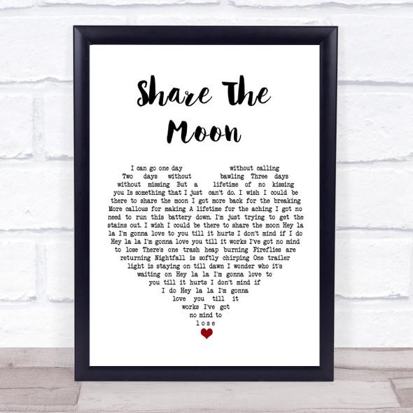 Indigo Girls Share The Moon White Heart Song Lyric Print