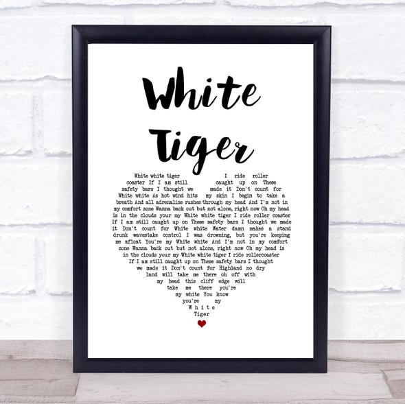 Izzy Bizu White Tiger White Heart Song Lyric Print