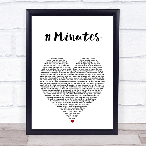 Yungblud & Halsey 11 Minutes White Heart Song Lyric Print