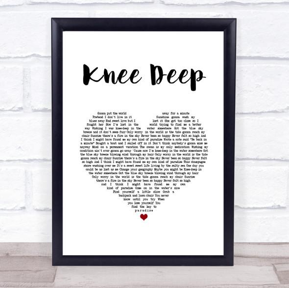 Zac Brown Band Knee Deep White Heart Song Lyric Print