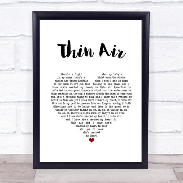 Pearl Jam Thin Air White Heart Song Lyric Print
