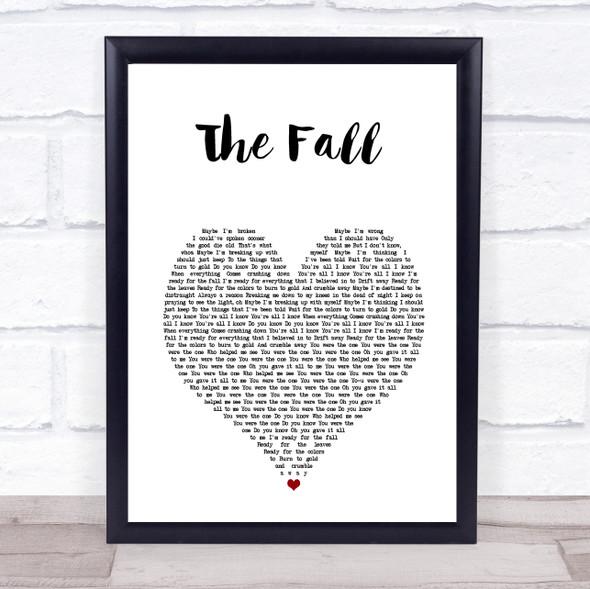 Imagine Dragons The Fall White Heart Song Lyric Print