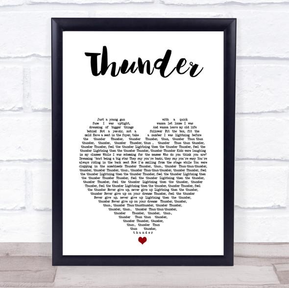 Imagine Dragons Thunder White Heart Song Lyric Print