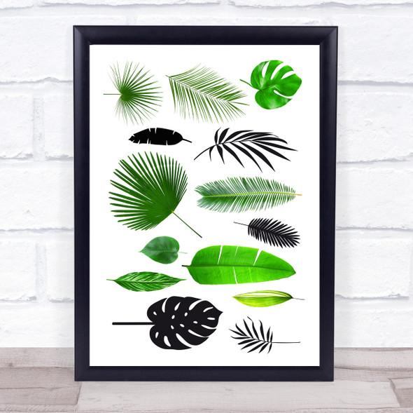 Jungle Leaves Various Wall Art Print
