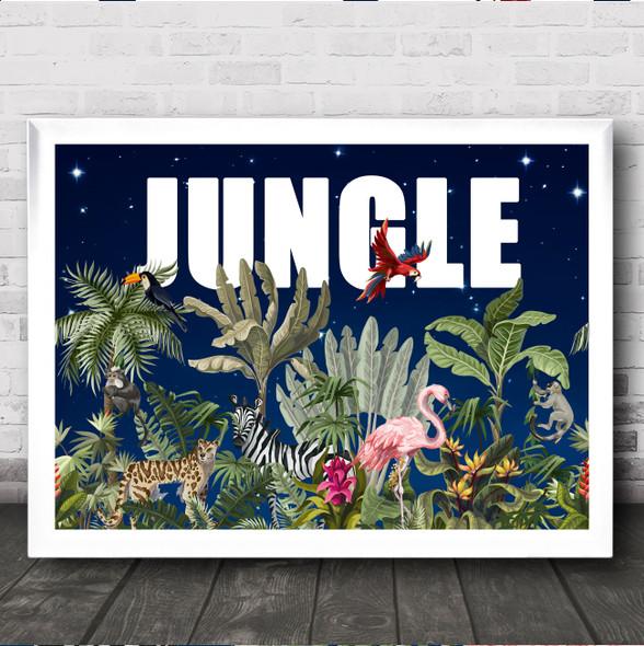Jungle Night Style Wall Art Print