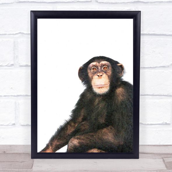 Monkey Watercolour Wall Art Print