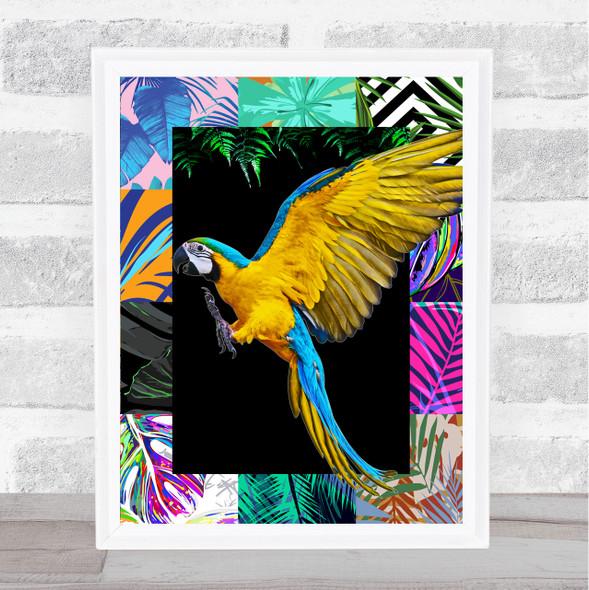 Parrot Jungle Squares Wall Art Print