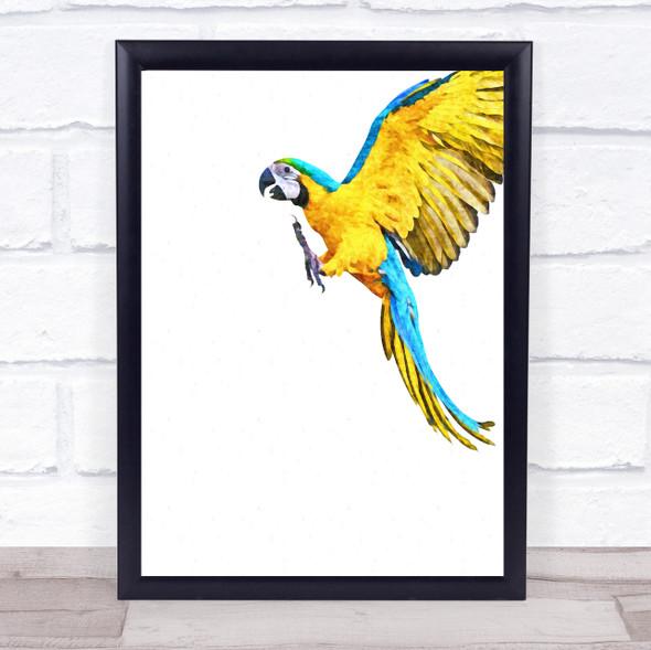 Parrot Watercolour Wall Art Print