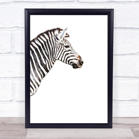 Zebra Watercolour Wall Art Print