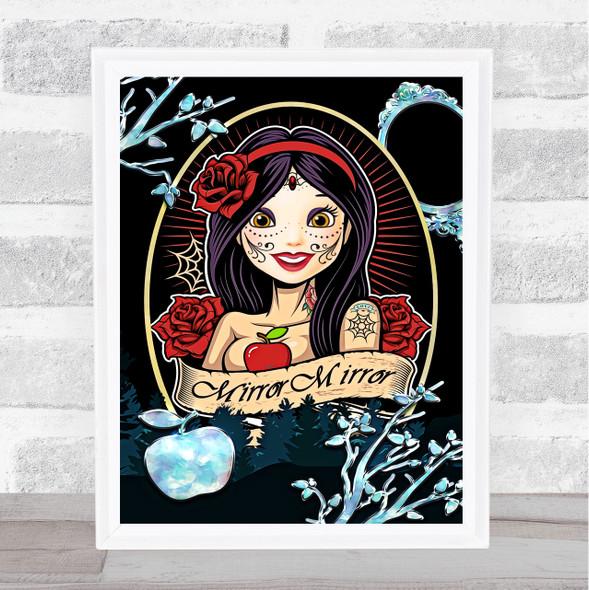 Bad Princess Range Disney Snow White Darkside Wall Art Print