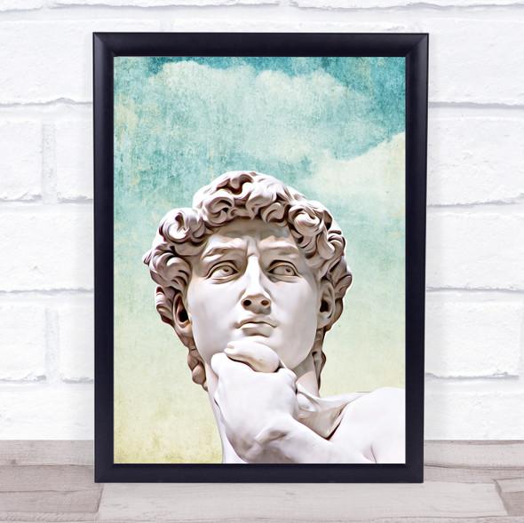 Michelangelo Retro Style Wall Art Print