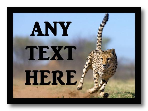 Cheetah Personalised Computer Mousemat