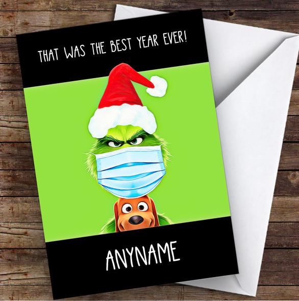 Grumpy Grinch 2020 That Was The Best Year Lockdown Personalised Christmas Card