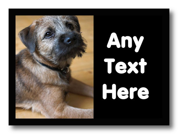 Border Terrier Dog Personalised Computer Mousemat